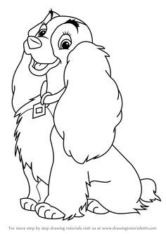Learn How To Draw Lady From Lady And The Tramp Lady And The Tramp Step By Step Drawing Tutorials Disney Drawings Disney Coloring Pages Lady And The Tramp