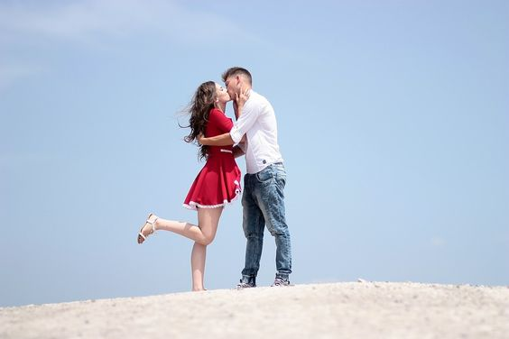 Casal, Amor, Beijo, Menina, Menino, Romance, Beleza