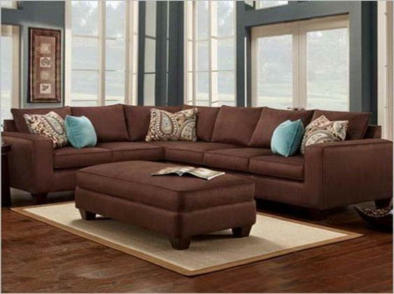 Living room color schemes brown couch alxtt boravak Brown wall color living room