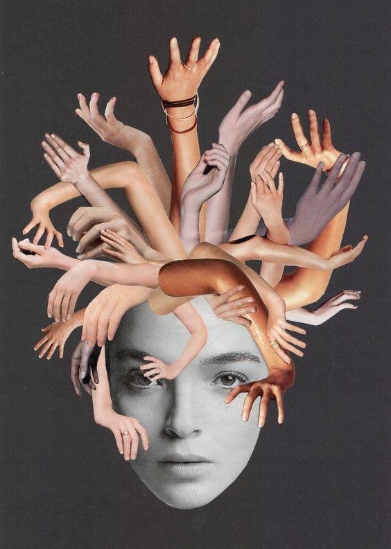 """Medus"" - Collage 2014 – 29,7 x 21 cm - (c) Sabine Remy - http://miriskum.de/"