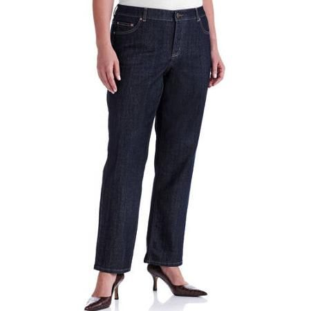Just My Size Women's Plus-Size Slimming Classic Fit Straight-Leg Jeans With Tummy Control, Available in Regular and Petite Lengths - Walmart.com
