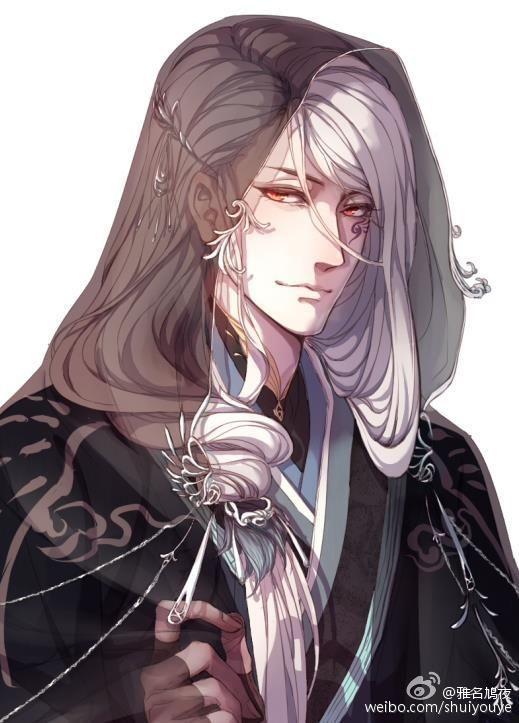 Oriental Guy White Hair Anime Guys Guys Anime
