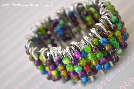 Safety Pin & Bead Bracelet - Kid Craft Contributor - Sugar Bee Crafts