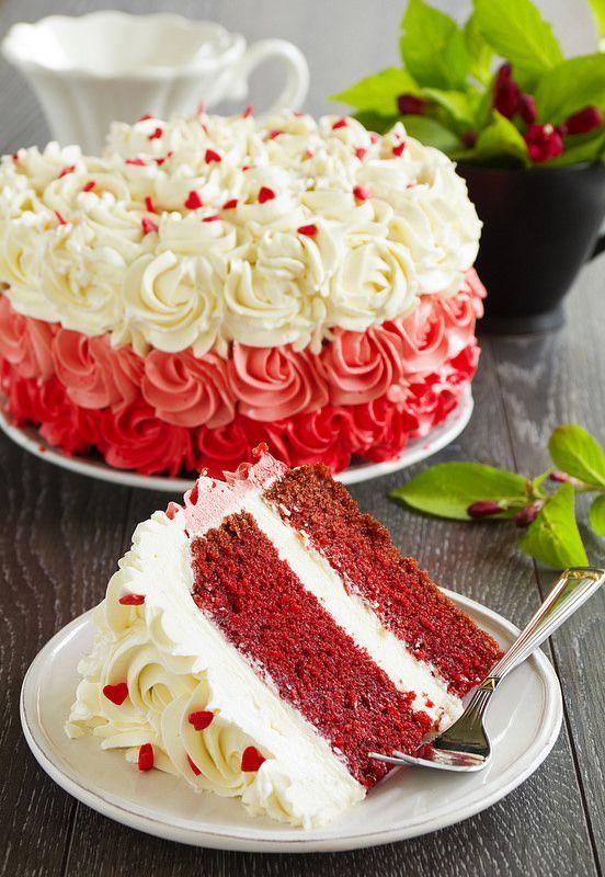 Un gâteau très rouge, et très américain, le 'Velours Rouge' ou 'Red Velvet'