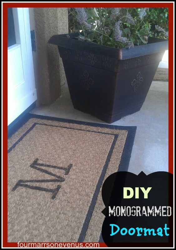 DIY Monogrammed Doormat