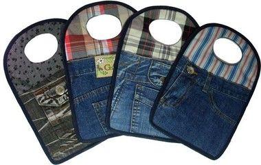 Lixeira Para Carro Feita De Calça Jeans: