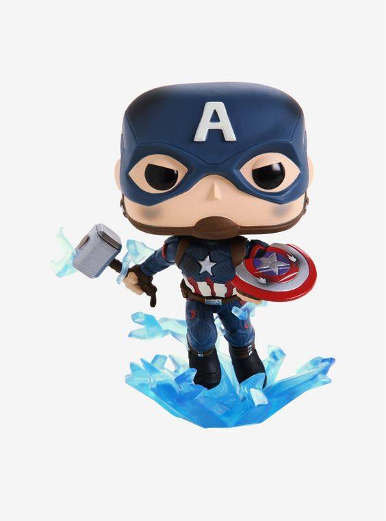 Funko Pop! Avengers: Endgame Captain America Mjolnir Vinyl Bobble-Head