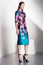 Vestido, luxury Brand flor mujeres elegante vestidos fiesta lindo calcomanías KC670(China (Mainland))