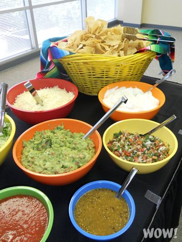 Graduation Party Taco Bar Menu