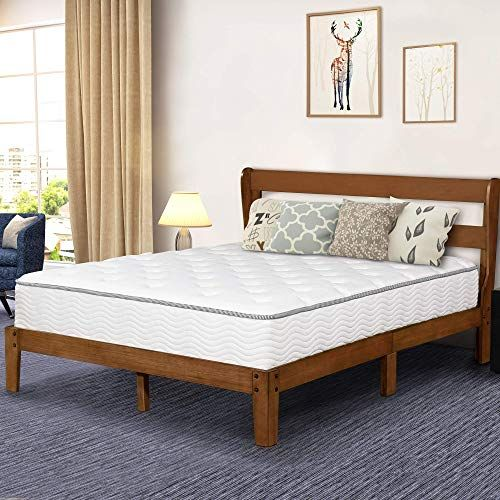 Best Seller Primasleep 12 Inch Platform Bed Headboard Wood Slat Support Queen Brown Online Findandbuytopstyle In 2020 Wooden Platform Bed Headboards For Beds Bed Headboard Wood