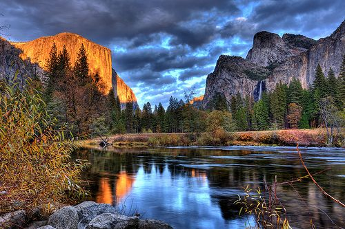 Reflections in the Merced - Yosemite