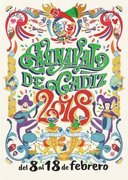 Finalistas Cartel del Carnaval de Cádiz 2018 - Al Son del Carnaval