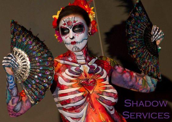 Full Body Sugar Skull by arynthefox on DeviantArt