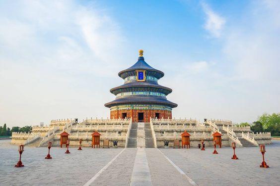 O Templo Do Ceu Em Pequim E Um Complexo De Templos Taoistas Construido Em 1420 E Utilizado Pelas Dinastias Ming E Qing Para Ped Templo Do Ceu Templos Pequim