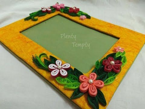 Handmade Photo Frame Quilling Art Quilling Photo Frame Paper
