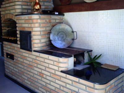Fogão a lenha com churrasqueira | Reforma terraço | Pinterest