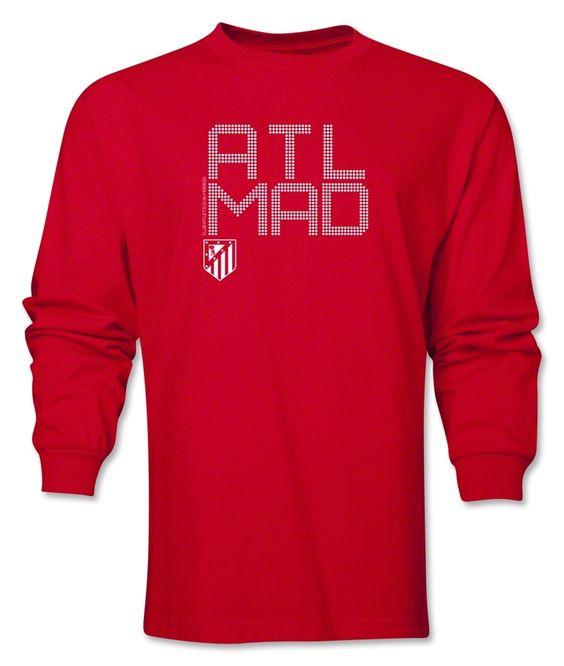 Atletico Madrid ATL MAD LS T-Shirt (Red) - WorldSoccerShop.com