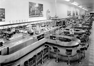 new streamlined sskresge lunch counter photograph