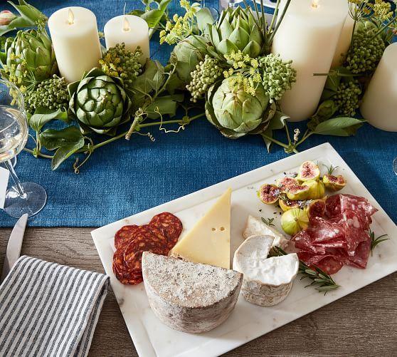 White Marble Rectangular Platter Rectangular Platter Platters Charcuterie And Cheese Board