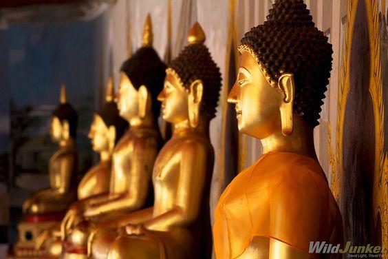 Buddha statues at Wat Phrathat Doi Suthep, Chiangmai