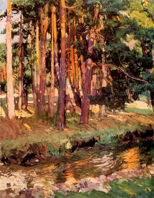 paintingbox:    JoaquínSorollay Bastida.El Baño de laReina, Valsaín. 1907. Oil on canvas. 106 x 82.5cm