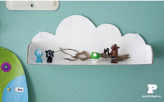 Tag re nuage en carton diy diy pinterest diy and crafts - Comment faire une etagere en carton ...
