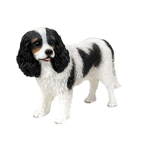 Cavalier King Charles Spaniel Black White Standard Dog Figurine Largest Online Dog Boutique Dog Figurines Cavalier King Charles Spaniel King Charles Spaniel