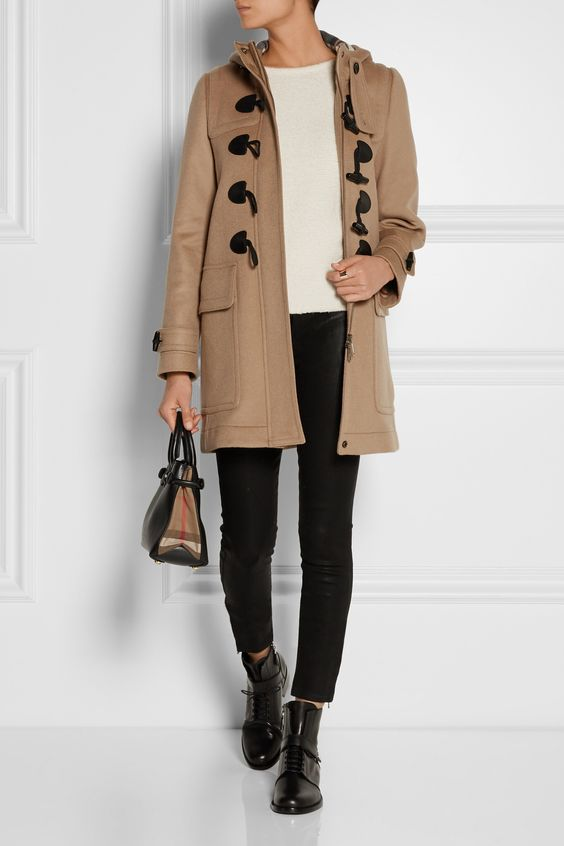 BURBERRY BRIT Hooded wool duffle coat  £581.88 http://www.net-a-porter.com/products/549762