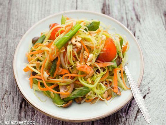 Thai Papaya Salat | Asia Street Food – Asiatische Rezepte aus den Straßenküchen Vietnams, Thailands, Kambodschas, Myanmars und Burmas