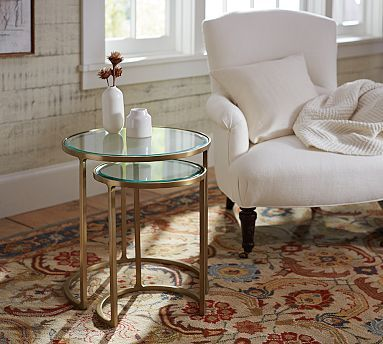 Monroe Nesting Side Table #Potterybarn - Could Sit In Between Two
