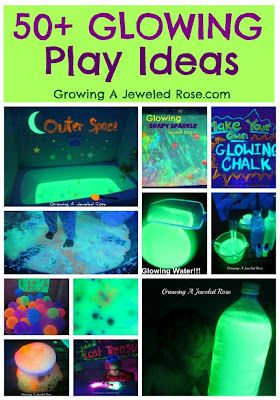Glowing paint, glowing chalk, glowing water... yay for blacklight!