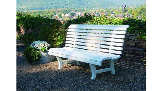 Gartenbank Potsdam Mahagoni natur oder weiß lackiert   Flohr Möbel