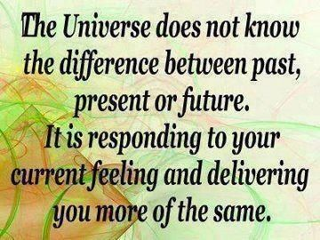 Pay attention to self talk. It is a conversation with the universe.