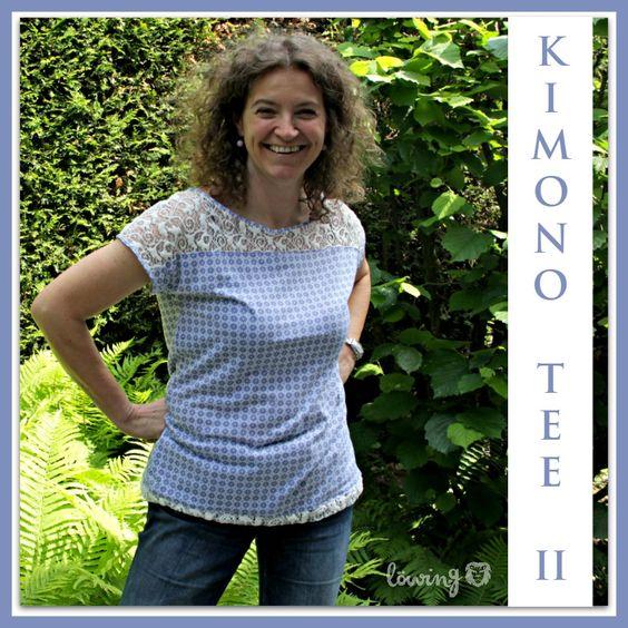 LÖwin.g: Kimono Tee mit Spitze ... Kimono Tee Lace Version