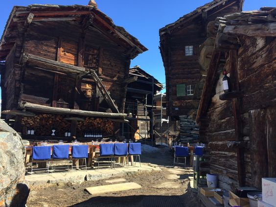 Pit stop for coffee! Zum See Restaurant in Zermat. Switzerland. Leoloveszermatt 13.03.15