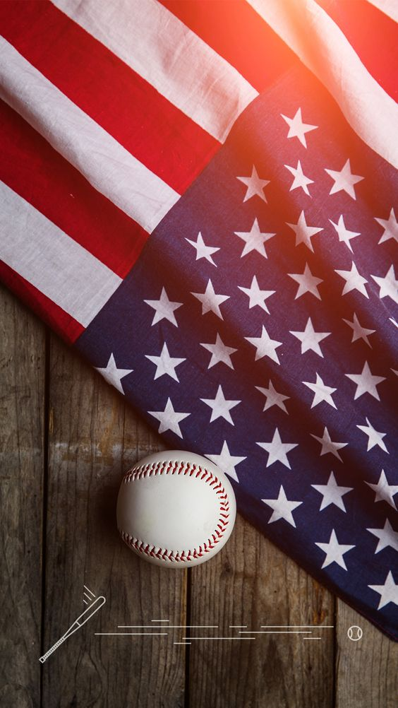 Tap And Get The Free App Lockscreens Art Creative 4th Of July Independence Day Baseball Usa Gam Baseball Wallpaper Mlb Wallpaper Iphone Lockscreen Wallpaper