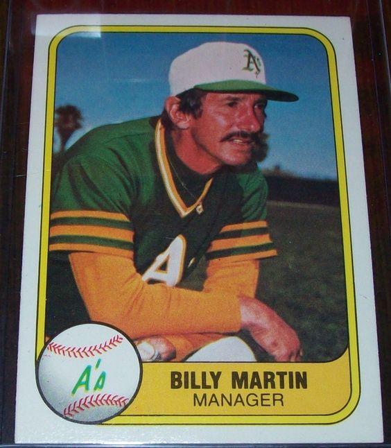 Billy Martin.  Fleer (1981)
