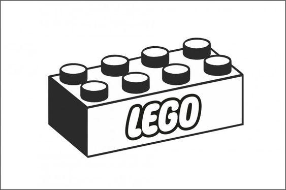 Muursticker Legoblok Lego Tattoo Lego Applikation Vorlagen