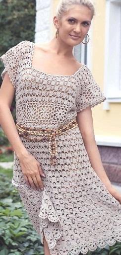 Схема вязания платье крючком 48 размера