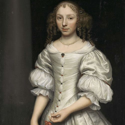 Portret van een vrouw, Wallerant Vaillant, 1660 - 1677 - Rijksmuseum: