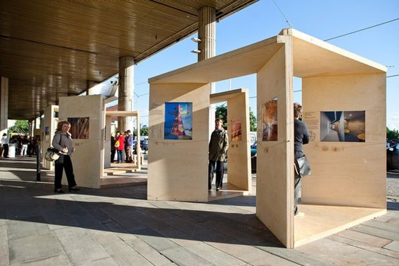 Outdoor Exhibition Stand Design : Archiwood exhibition by наташа шендрик via behance