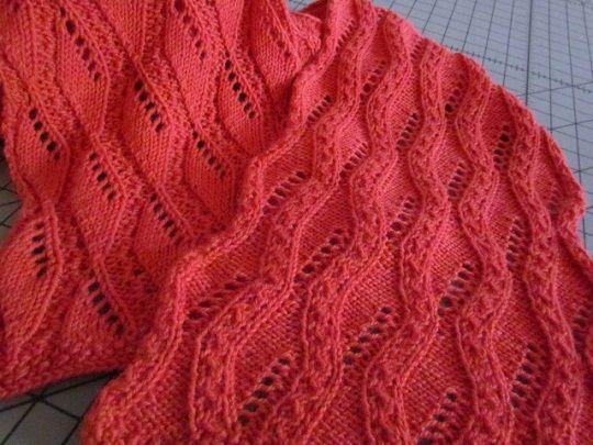 Reversible textured stitch pattern