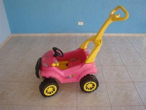 Carrinho Jipe Smart Car Menina Rosa Com Pedal 469 Bandeirant