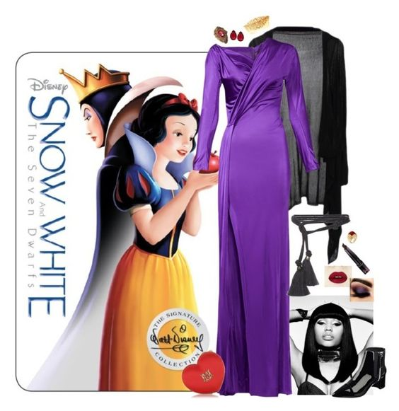 """""""Evil Queen Chic"""" by alexosterberg ❤ liked on Polyvore featuring Nicki Minaj, Dsquared2, Lanvin, Bulgari, T Tahari, Love Moschino, Nine West, women's clothing, women's fashion and women"""
