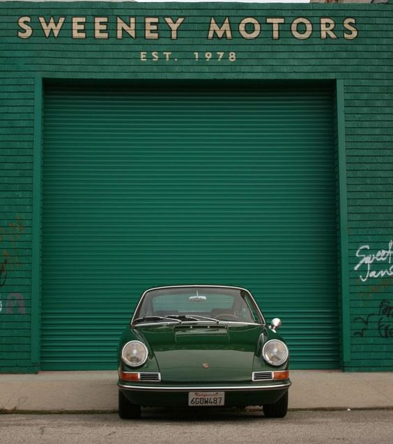 Green is a classic color for sports cars. Sweeney Motors & Porsche: