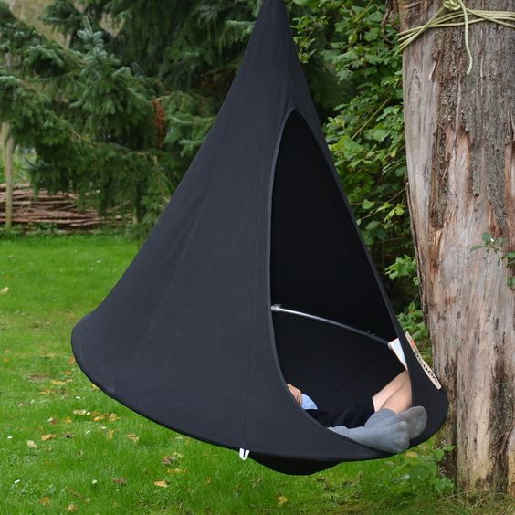 Cacoon Bonsai: Black from Hammock Town  http://hammocktown.com/collections/cacoon-hammocks/bonsai