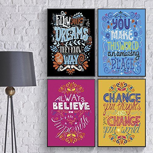 Shareable College Dorm Prints Inspiring Wall Art for Office Decor Classroom Motivational Posters Positive Quotes Wall Art Pillow /& Toast Inspirational Posters for Kids Unusual Friendship Gift