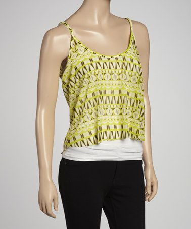 Take a look at this Lime Swell Tank by I Love AQUARIUS on #zulily today!