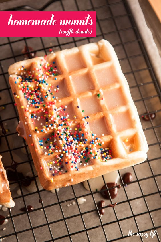 Oh my heavens. Where have these been all my life! Homemade Wonuts (Waffle Donuts) | thesassylife: