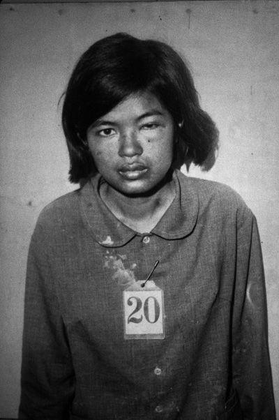 War's Children: Unknown Cambodian girl, Genocide museum, Phnom Penh: